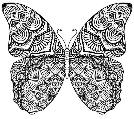 la mariposa mandala svg dxf eps