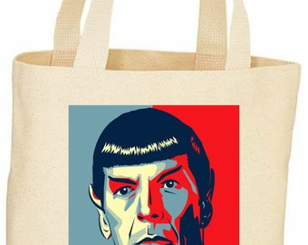 Star Trek Spock custom tote bag