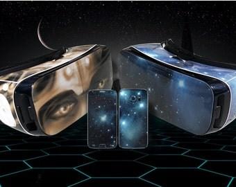 Choose Any 2 Designs - Vinyl Skin/Decal/Sticker for Samsung Gear VR Headset