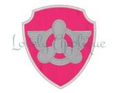 Skye Badge Applique Design - Instant Download -  Paw Patrol Badge, Paw Patrol Shield