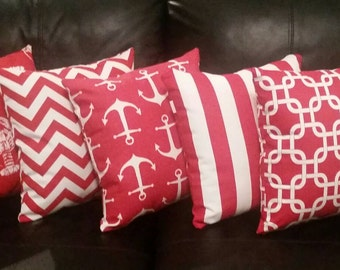 Red Pillow Cover // Indoor - Outdoor