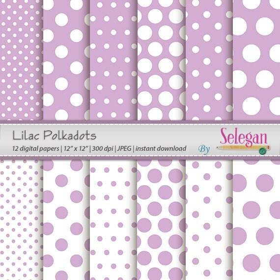 Polka dot decor lilac polkadots polka dots for Polka dot decorations for bedrooms