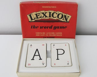 Vintage Waddingtons Lexicon Card Game 1960s Letters Ideal for Crafting Complete No Instructions