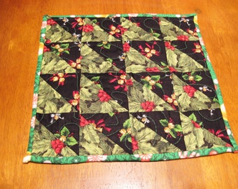 Small Quilted Christmas Table Topper