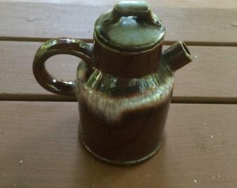 Glazed brown tea pot