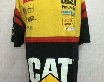 Vintage WARD BURTON Bill Davis Racing Champion Nascar Tshirt