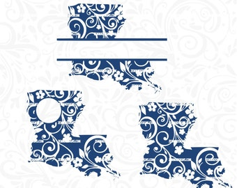 louisiana svg - state svg - svg files - file types. .DXF .SVG, .PNG - cutting file - commercial use svg