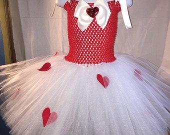 Valentines Day Tutu Dress, tutu dress, valentines, dress up, photo prop, lovely holiday dress #VARD214