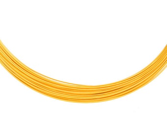 Aluminum wrapping wire, anodized gold 23gauge beading wire 48-foot coil