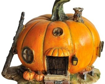 "4.5"" Pumpkin Fairy House Garden Terrarium Dollhouse Miniature Figurine Figure"