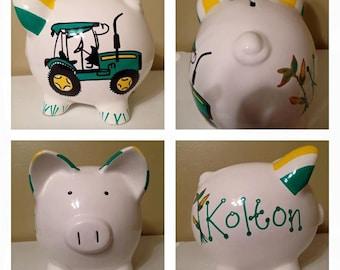 Big Green Tractor Piggy Bank