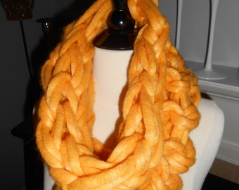Yellow infinity scarf