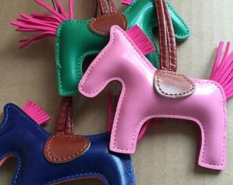 Cute antimal charm tote charm purse bag accessories hand sewing real leather bag charm handbag tote bag accessories horse bag bugs charm