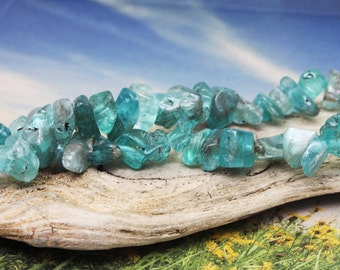 Apatite Rough Cut Beads 7-15mm / Natural Apatite Beads / Rustic Apatite Beads / Apatite  Nugget Beads /Apatite Gemstone Beads / 6 beads
