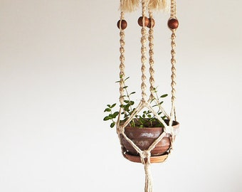 Macrame pot plant hanging sisal basket