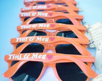 Beach wedding sunglasses, bachelorette sunglasses, personalized Wedding Favors, bachelorette parties, bridesmade gift, bridal parties