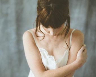 Lucille silk/lace crop camisole