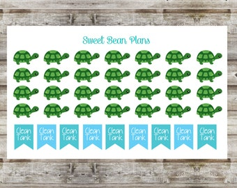 30+ Pet Turtle Planner Stickers