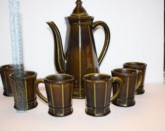Pfalizgraff Coffee Pot and Mugs