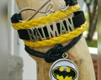 Infinity love Batman bracelet