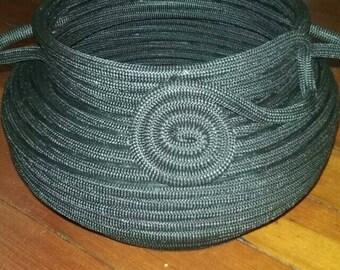 Handmade Black Rope Basket