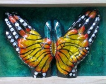 Butterfly ( yellow & green )
