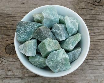"Green Aventurine - ""The Stone of Opportunity & Prosperity"" - Raw Stone // Heart Chakra // Crystal Healing"