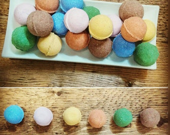 25 Minis bath bombs your choice of fragrances and color, shower, wedding, kids' party, christening, gift, bath, fun, funny