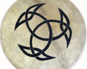 Drum Native American shaman excellent sound - tribal Thunderdrum covered with Buffalo rawhide
