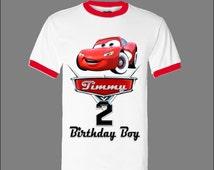 Cars Birthday Shirt - Disney Cars Birthday Shirt - Ringer Shirt