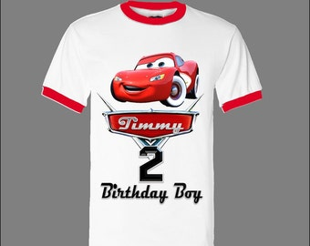 Cars Birthday Shirt - Disney Cars Birthday Shirt - Ringer Shirt