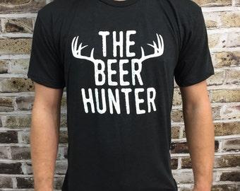 Beer Hunter Shirt, Triblend Shirt, Hunting Shirt, Beer Shirt, Funny Shirt, Groomsman Gift, Bridesmaid Gift, Christmas Gift, Beer