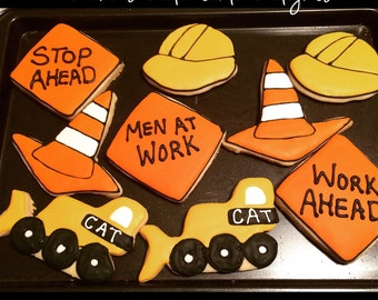 Construction Theme Sugar Cookies