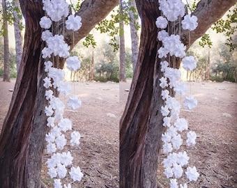 Romantic Wedding Backdrop - Flower Backdrop - Wedding Ceremony Decor - Outdoor Wedding