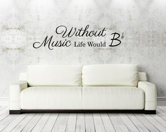 High Quality Vinyl Wall Decal Quote Music Room Decor Wall Sticker Saying Music Theme  Wall Art Words