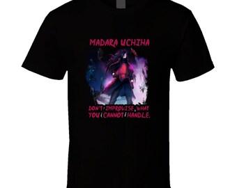 Naruto t-shirt. Madara Uchiha tshirt for him or her. Naruto tee as a Madara Uchiha gift idea. A great Naruto gift. Awesome Naruto shirt