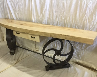 industrial console table farmhouse hallway table side table restaurant hotel reception
