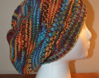 Woman Textured knit slouch hat