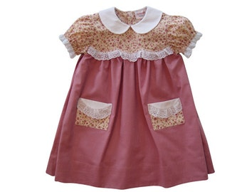 Pink Dress. Pink Outfit for Baby Girl. Baby Girls' Dress. Baby Gift. Girls Dresses. Long dress