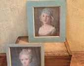 Miniature Wall Decor, Miniature French Portraits , French Country Miniatures, Miniature Baroque Art, Miniature French Canvas