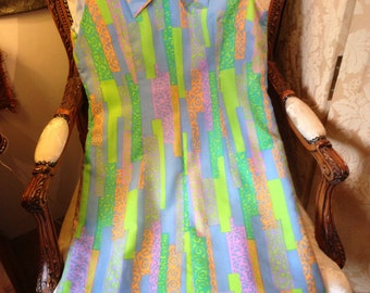 60's lined stunning dress. French. Quality.42x34x42x38 length