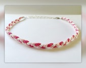 Pink - Kids braided diffuser necklace