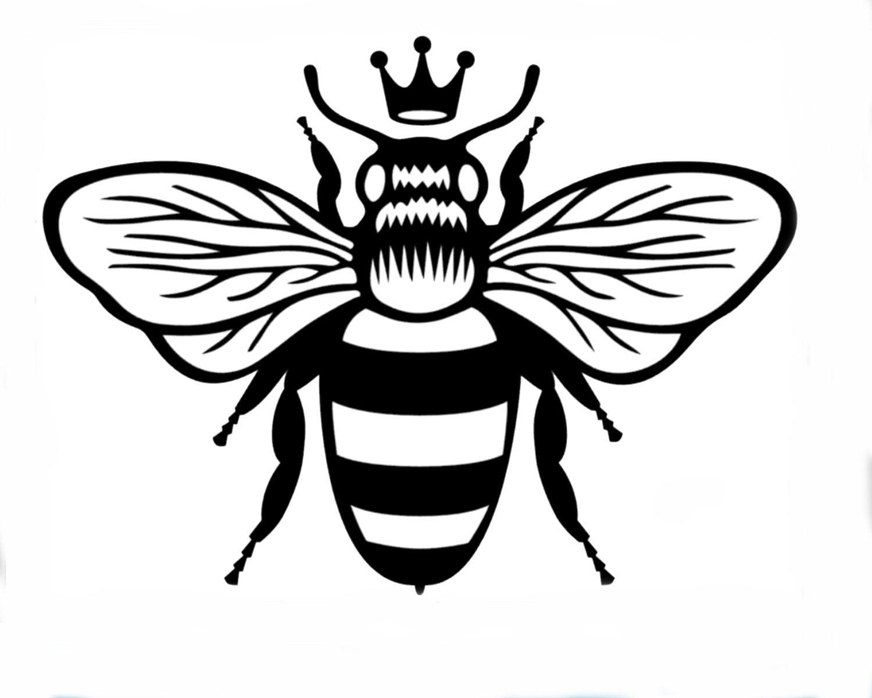 Queen Bee Vinyl Sticke...