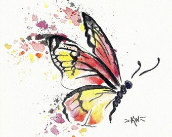 Butterfly 1 *Original Watercolor Painting*