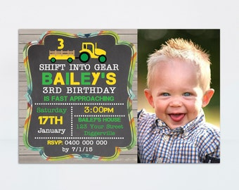Tractor Invitation, Farm Invitation, Tractor Birthday Invitation, Printable Invitation, Tractor Party, Tractor Birthday, Boy Birthday Invite
