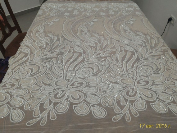 New fashion show  Sequin embroidery fabric stage/evening/fashion show/wedding dress