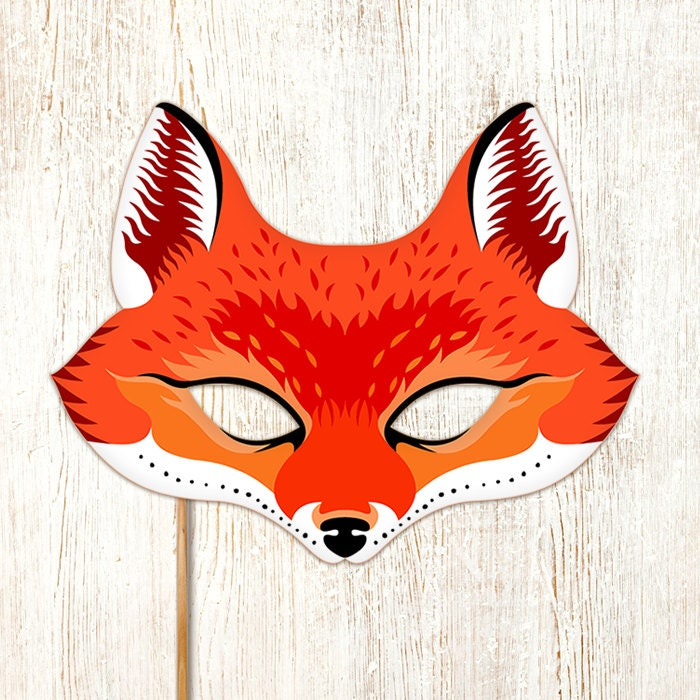It is a picture of Remarkable Printable Fox Mask
