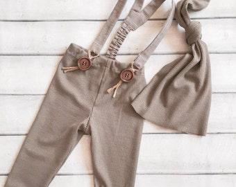 Cod 53 Newborn Grey-Dust Stretch Cotton Leggings, baby pants, stretch pants, newborn clothing, baby boy, photography prop, baby boy hat