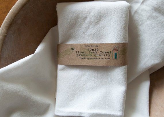 Bulk Flour Sack Towel set of 24/ Tea by TheTinyHouseFarm