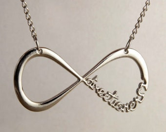 Infinity Necklace forever Directioner Infinite silver necklace
